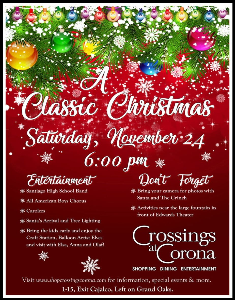 13th Annual Tree Lighting @ Crossings at Corona  | Corona | California | United States