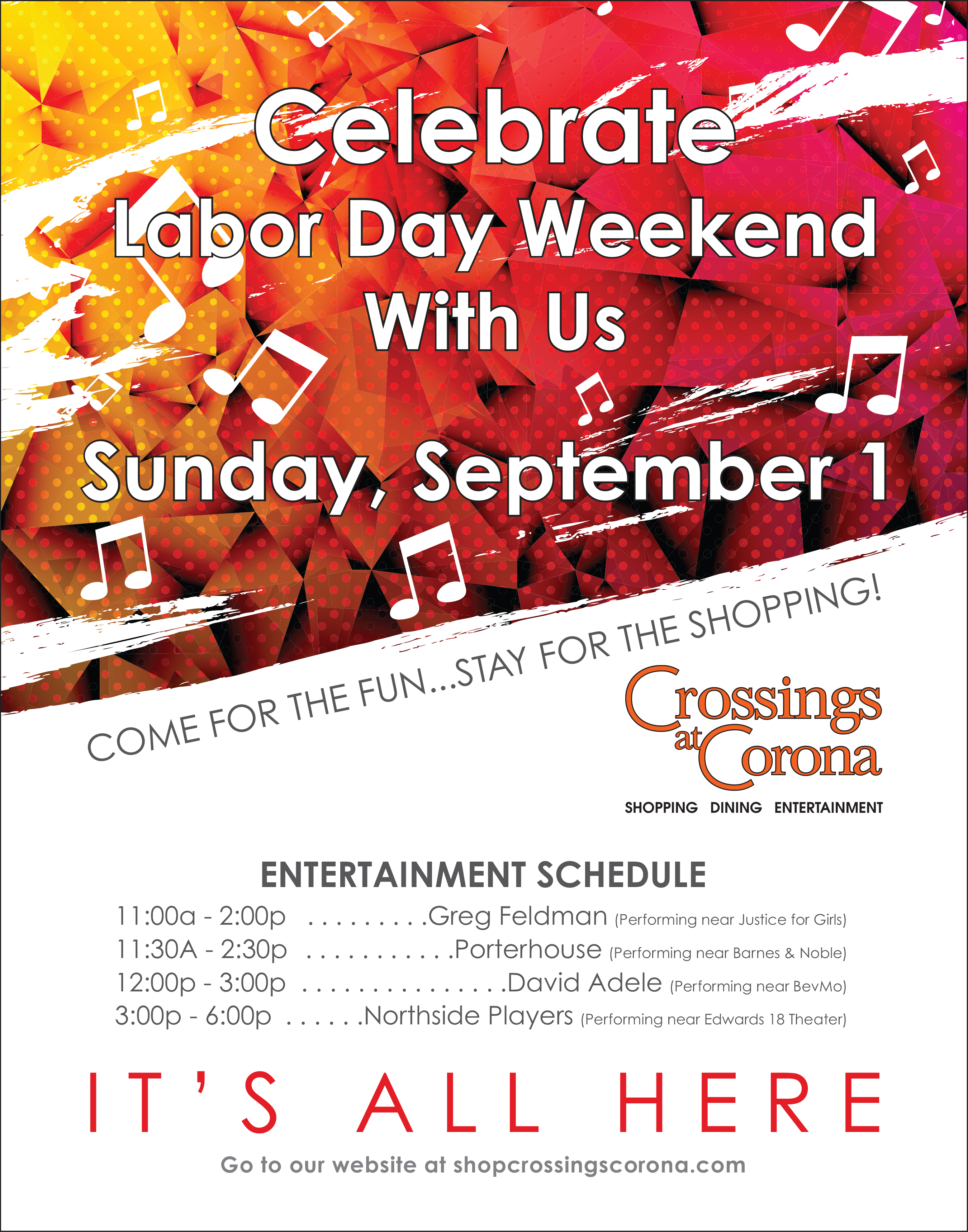 2019 Crossings Labor Day Event @ Crossings at Corona
