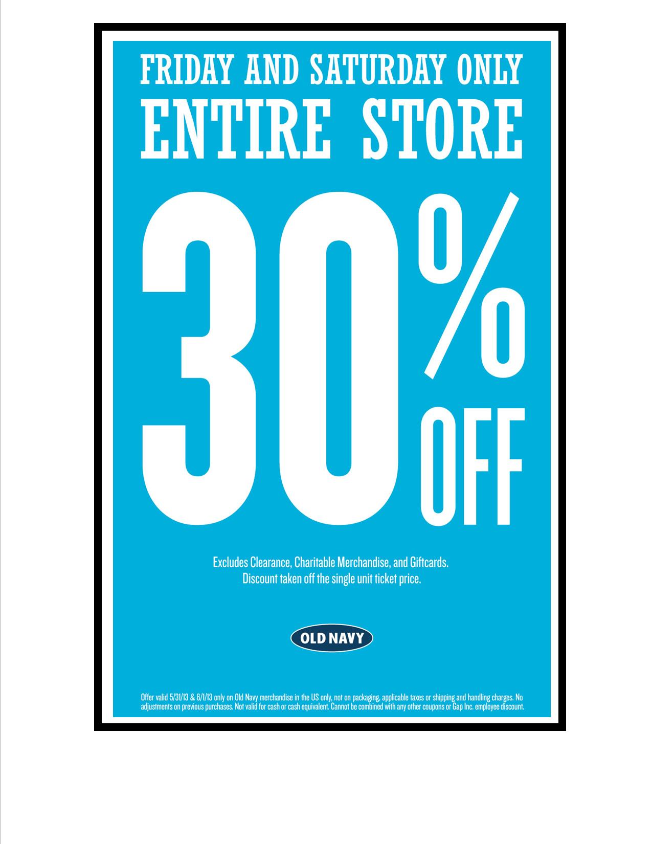 Old Navy May 31 Sale Flyer | Shop Crossings at Corona